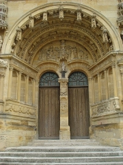 Eglise Saint-Maurille - English: Vouziers (Ardennes) porche de l'église