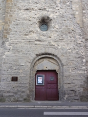 Eglise - English: Warcq (Ardennes) église, portail