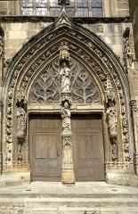 Eglise Saint-Trésain - English: Portal of Saint-Trésain church, Avenay, Marne, France.