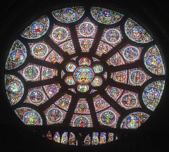 Eglise Notre-Dame-en-Vaux et son cloître - English: Châlons-en-Champagne, Collégiale Notre-Dame-en-Vaux, gothic rose window