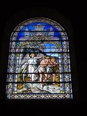 Eglise Saint-Jean - Vitrail de l'église Saint-Jean de Châlons-en-Champagne (Marne, France): Adam et Eve chassés du jardin d'Éden