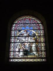 Eglise Saint-Jean - Vitrail de l'église Saint-Jean de Châlons-en-Champagne (Marne, France): scène de sacrifice