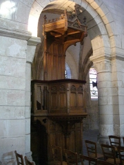 Eglise Saint-Jean - Église Saint-Jean de Châlons-en-Champagne (Marne, France): chaire (1888)