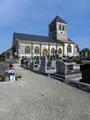 Eglise Saint-Martin - Français:   Église Saint-Martin de Courtisols (51). Vue méridionale.