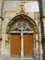 Eglise Saint-Martin - Français:   Église Saint-Martin de Courtisols (51). Portail du croisillon sud.
