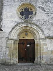 Eglise Saint-Martin - Français:   Église Saint-Martin de Courtisols (51). Façade ouest du collatéral sud.