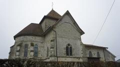 Eglise - Français:   Côté Nord de l\'église st-Martin de Dommartin sous Hans.