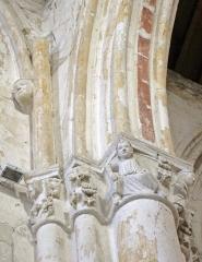 Eglise Notre-Dame-du-Soldat - Français:   chapiteau de l\'église de Hans .