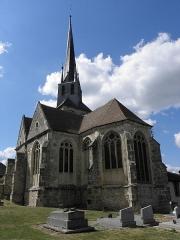 Eglise - Français:   Chevet de l\'église Saint-Rémi de Mareuil-le-Port (51).