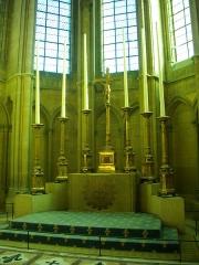 Ancien archevêché, actuellement Palais du Tau - Palais du Tau à Reims (Marne, France). Autel de la chapelle haute