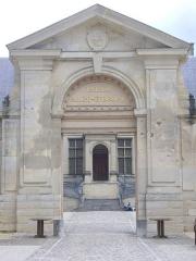 Ancien archevêché, actuellement Palais du Tau - Palais du Tau à Reims (Marne, France), entrée
