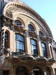 Cinéma-opéra -  La façade de l'ancien cinéma Opéra,Art Nouveau,à Reims.