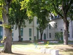 Ancien collège des Jésuites, actuellement Hospice général Museux - Cour intérieure occidentale de l'ancien collège des Jésuites de Reims (Marne, France)