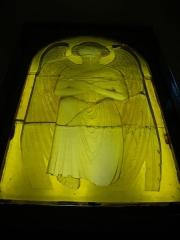 Eglise Saint-Nicaise - Intérieur de l'église Saint-Nicaise de Reims (Marne, France): verrière originale de René Lalique