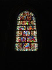 Eglise Saint-Rémi - Basilique Saint-Remi de Reims (Marne, France), vitrail de la façade occidentale