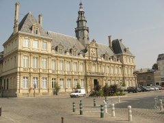 Hôtel de ville - English: Town hall of Reims, France.