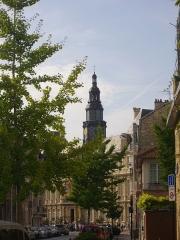 Hôtel de ville - Hôtel de ville de Reims (Marne, France), vu de la rue Rousseau