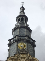 Hôtel de ville - Français:   Hôtel de ville de Reims (Marne, France), détail du clocheton