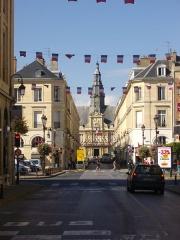 Hôtel de ville - Français:   Hôtel de ville de Reims (Marne, France), vu depuis la place Royale