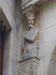 Maison natale de Jean-Baptiste de la Salle - Hôtel Jean-Baptiste de La Salle à Reims (Marne, France), caryatide