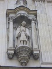 Maison natale de Jean-Baptiste de la Salle - Hôtel Jean-Baptiste de La Salle à Reims (Marne, France), statue du saint