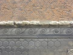 Pavillon de Muire - Français:   Pavillon de Muire à Reims (Marne, France), détail
