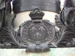 Place Royale - Français:   Statue de Louis XV, sur la Place Royale de Reims (Marne, France), dtail