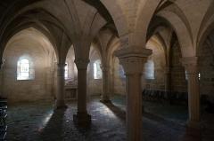 Eglise Saint-Martin - L'une des trois crypte sous l'église .