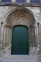 Eglise Saint-Martin - Église de Vertus, son portail occidental en gros plan.