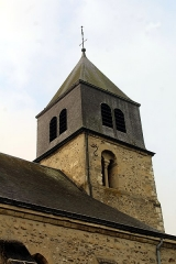 Eglise - English: Villers-Allerand, Église Sainte-Agathe, the tower