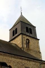Eglise - English: Villers-Allerand, Église Sainte-Agathe, the tower