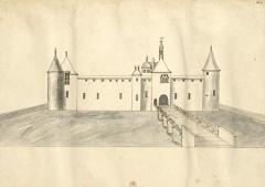 Château de Dinteville -  La face de derrière du chasteau de Dinteville qui regarde le jardin