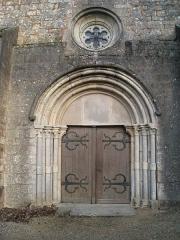 Eglise - Français:   Porte principale de l\'église de Montsaugeon