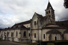 Eglise - English:  St. Stephan's Church, view from the garden.