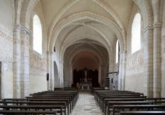 Eglise - Nederlands: Dancevoir (departement Haute-Marne, Frankrijk): interieur van de Sint-Petrus-Bandenkerk