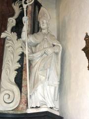 Eglise Saint-Martin - Doulaincourt, église Saint-Martin, retable de Saint-Roch, détail, statue d'un saint