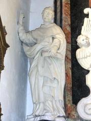 Eglise Saint-Martin - Doulaincourt, église Saint-Martin, retable de la Vierge, detail, statue d'un saint