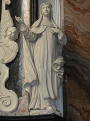 Eglise Saint-Martin - Doulaincourt, église Saint-Martin, retable de la Vierge, detail, statue d'une sainte
