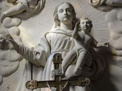 Eglise Saint-Martin - Doulaincourt, église Saint-Martin, retable de la Vierge, détail vierge