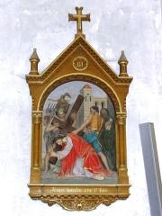 Eglise Saint-Martin - Église Saint-Martin de Doulaincourt, chemin de croix, station 03