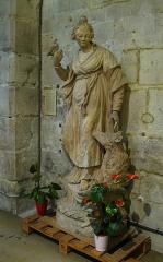 Eglise Sainte-Colombe - Français:   Statue en terre cuite du 19ème siècle dans l\'église Sainte-Colombe de Chevilly-Larue, représentant Sainte-Colombe