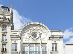 Cinéma Artel-UGC, ancien cinéma Royal Palace - Français:   Partie supérieure de la façade du cinéma Royal Palace de Nogent-sur-Marne