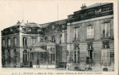 Hôtel de ville, ancien hôtel seigneurial -  Carte postale ancienne éditée par Abeille N°AC8   ÉPINAY-SUR-SEINE: Hôtel de Ville - Ancien château de Dom François d'Assise