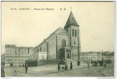 Eglise Saint-Germain - English: Saint-Germain l'Auxerrois church in Pantin (suburb of Paris) around 1900