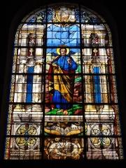 Eglise Saint-Germain - English: Église Saint-Germain de Pantin, vitrail 01 sanctus Marcus