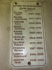 Eglise Saint-Germain - English: Église Saint-Germain de Pantin, plaquette curés