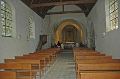 Eglise - English: Photo of the interior of the church of Aincourt