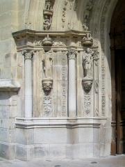 Eglise Saint-Martin - Français:   Détail de l\'archivolte du portail occidental.