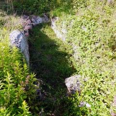 Allée mégalithique sépulcrale - English: Allée couverte du Blanc Val, Presles, France.