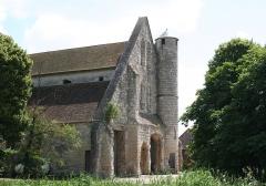 Domaine de la grange cistercienne de Vollerand - English: Gable of the Barn of Vaulerent, Villeron, Val-d'Oise, France. XIII cent. (1220-1230?)